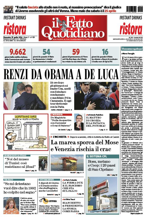 Il Fatto Quotidiano (19-04-15) free download
