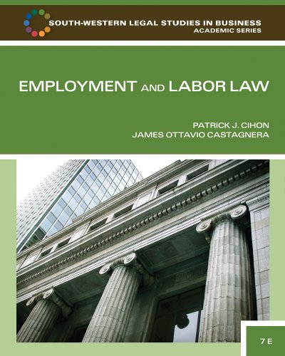 Employment and Labor Law, 7 edition free download