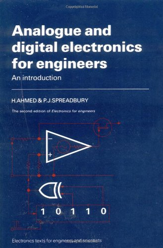 Analogue and Digital Electronics for Engineers: An Introduction (2nd edition) free download