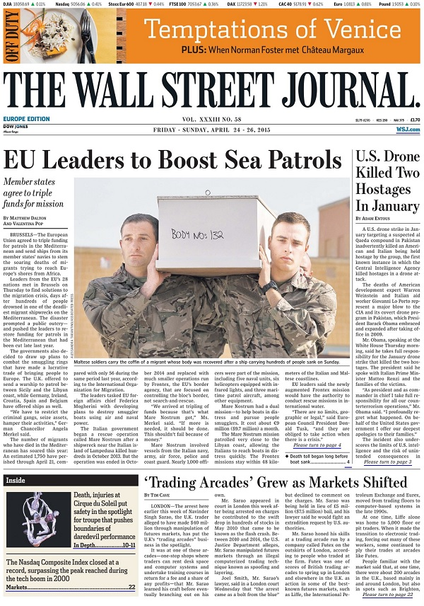 The Wall Street Journal Europe - Friday-Sunday, 24-26 April 2015 free download