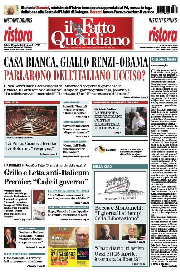 Il Fatto Quotidiano (25-04-15) free download