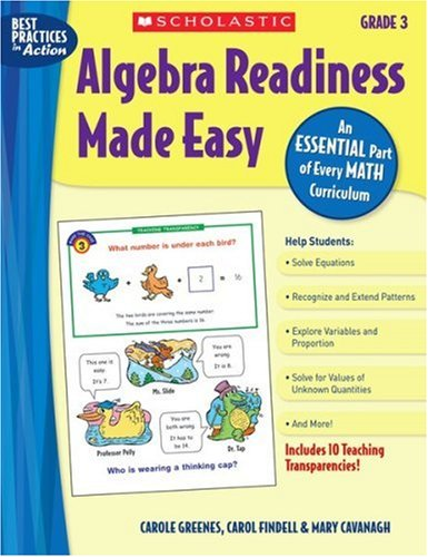 Algebra Readiness Made Easy: Grade 3 (Best Practices in Action series) free download