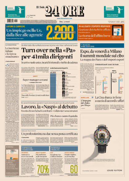 Il Sole 24 Ore - 27.04.2015 free download