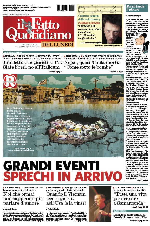 Il Fatto Quotidiano (27-04-15) free download