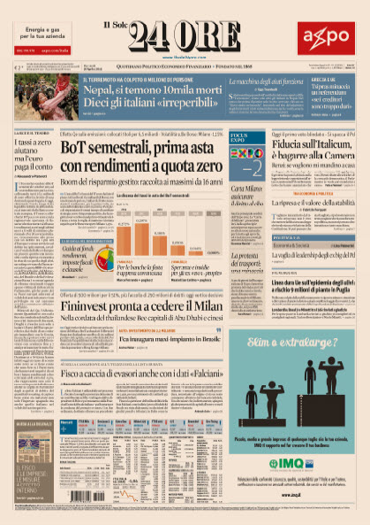 Il Sole 24 Ore - 29.04.2015 free download