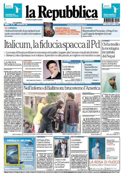 La Repubblica - 29.04.2015 free download