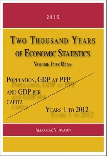 Two Thousand Years of Economic Statistics, Years 1-2012: Population, GDP at PPP, and GDP Per Capita. Volume 1, By Rank free download