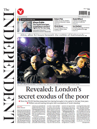The Independent April 30 2015 free download