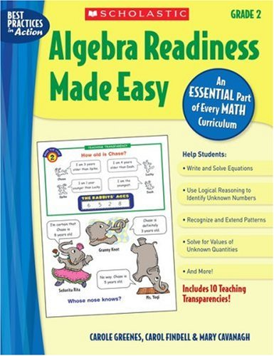 Algebra Readiness Made Easy: Grade 2: An Essential Part of Every Math Curriculum free download