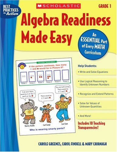 Algebra Readiness Made Easy: Grade 1: An Essential Part of Every Math Curriculum free download