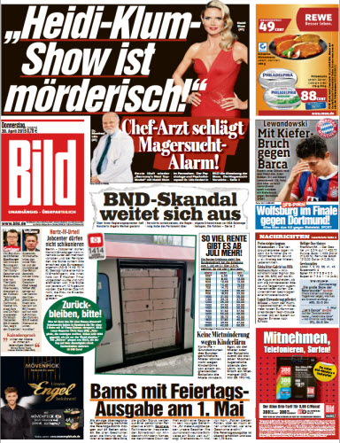 Bild Zeitung vom 30 April 2015 free download