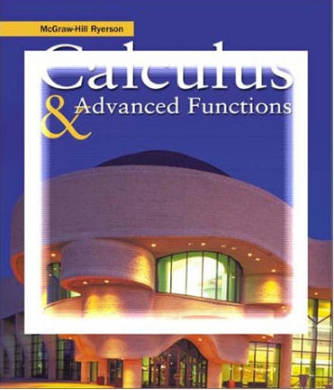 Calculus & Advanced Functions, Solutions Manual free download