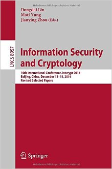 Information Security and Cryptology free download