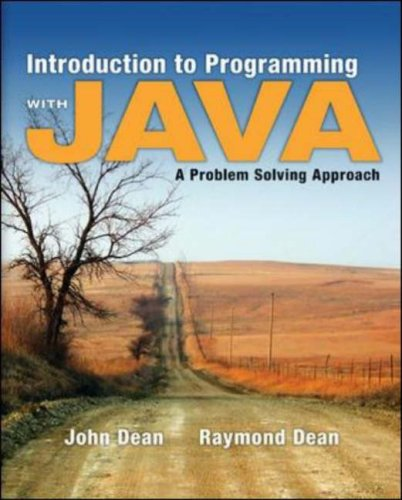Introduction to Programming with Java: A Problem Solving Approach free download