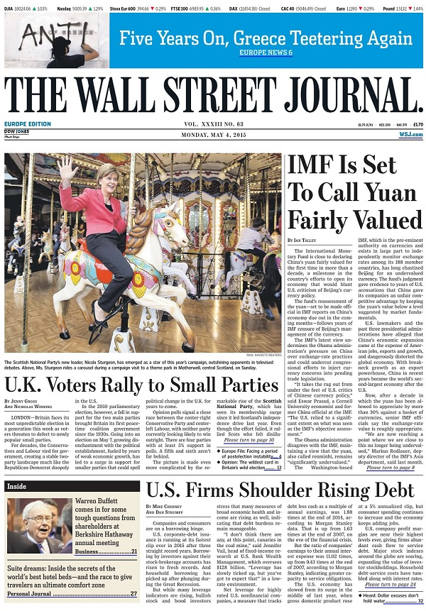 The Wall Street Journal Europe - Monday, 4 May 2015 free download