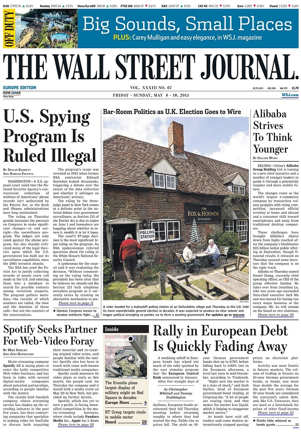 The Wall Street Journal Europe - Friday-Sunday, 8-10 May 2015 free download