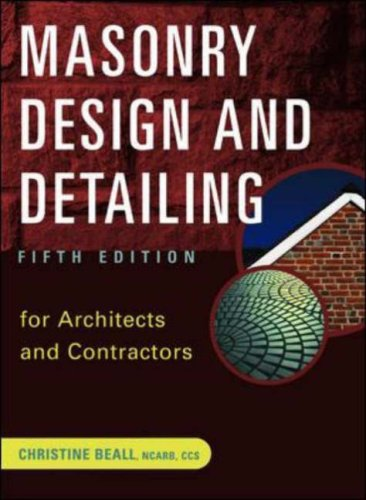 Masonry Design and Detailing: For Architects and Contractors free download