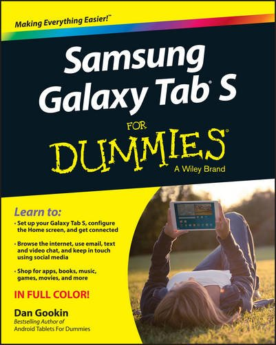 Samsung Galaxy Tab S For Dummies free download