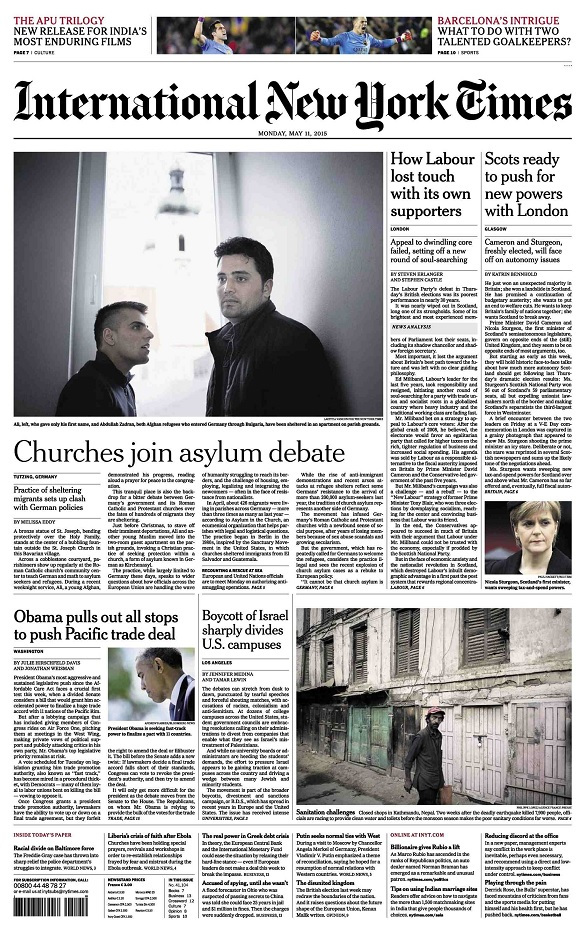 International New York Times - Monday, 11 May 2015 free download