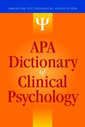 APA Dictionary of Clinical Psychology free download