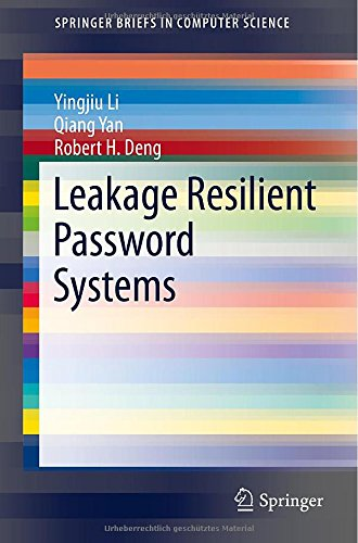Leakage Resilient Password Systems free download