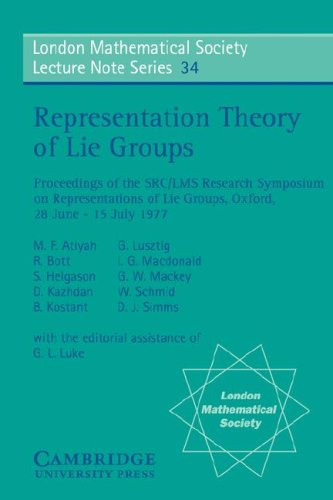 Representation Theory of Lie Groups free download