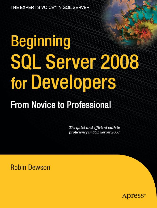 Beginning SQL Server 2008 for Developers free download