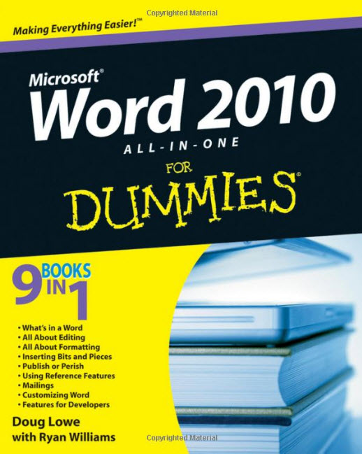 Word 2010 All-in-One For Dummies free download