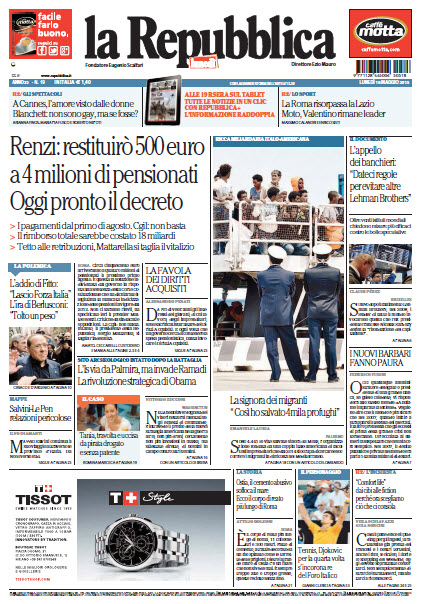 La Repubblica - 18.05.2015 free download