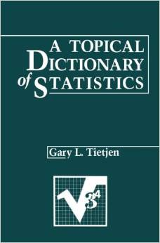 A Topical Dictionary of Statistics free download