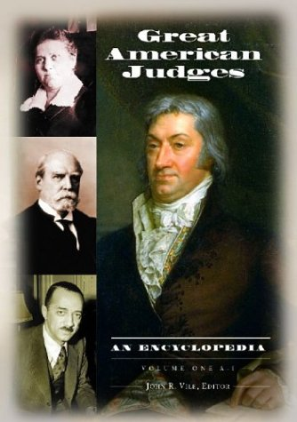 Great American Judges [2 volumes]: An Encyclopedia free download