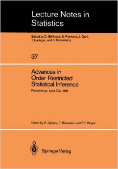 Advances in Order Restricted Statistical Inference free download