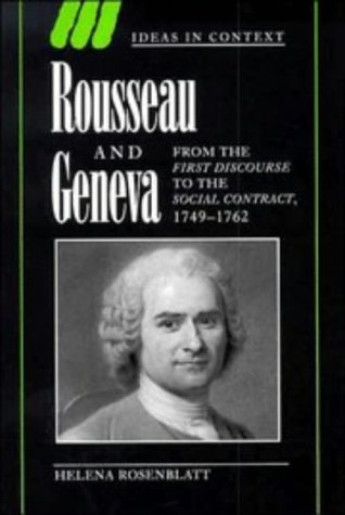 Rousseau and Geneva: From the First Discourse to The Social Contract, 1749-1762 free download