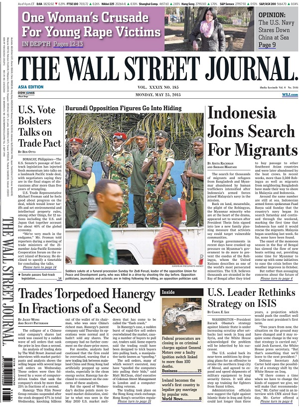 The Wall Street Journal - Monday, 25 May 2015 / Asia free download