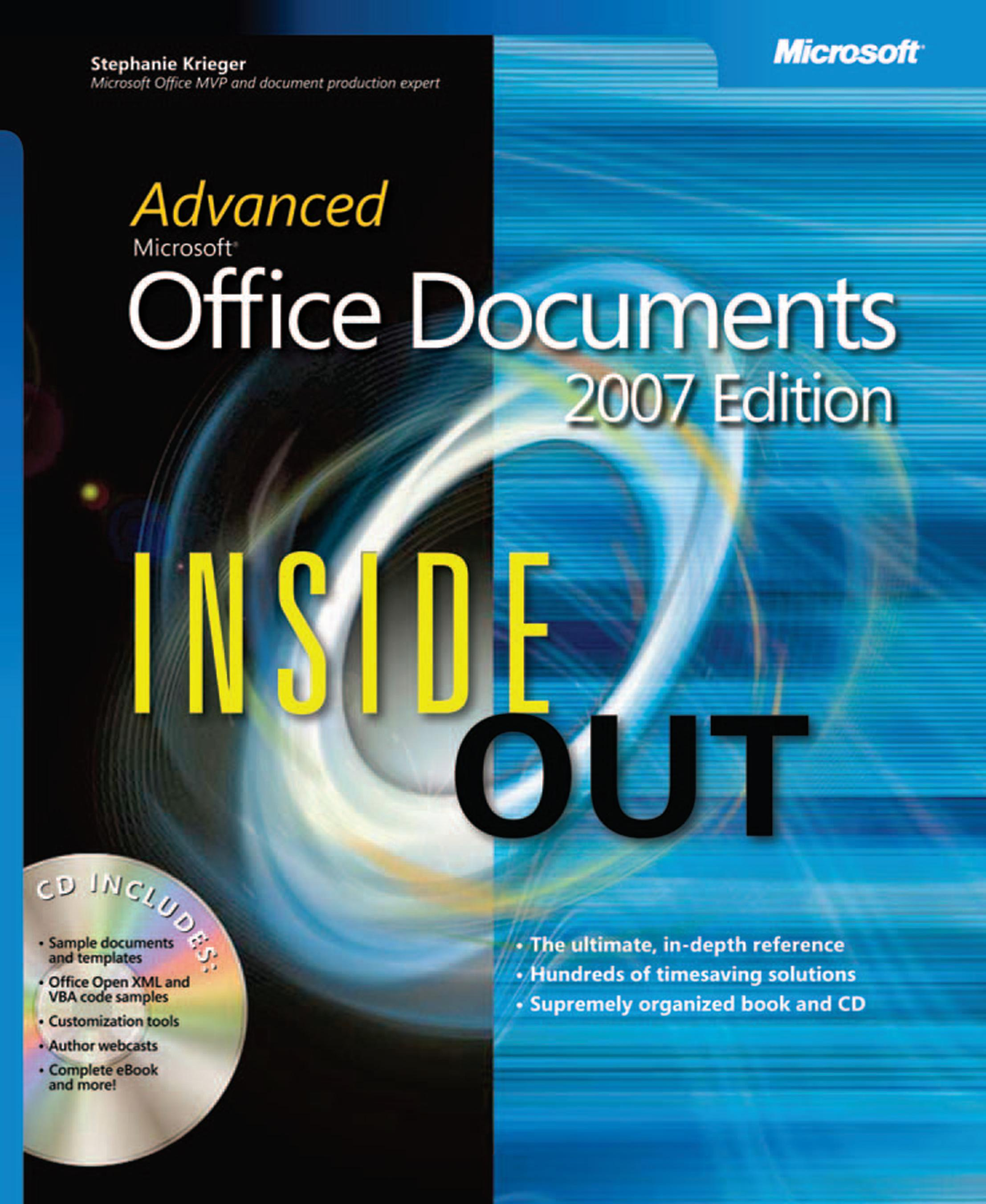advanced microsoft office documents 2007 edition inside