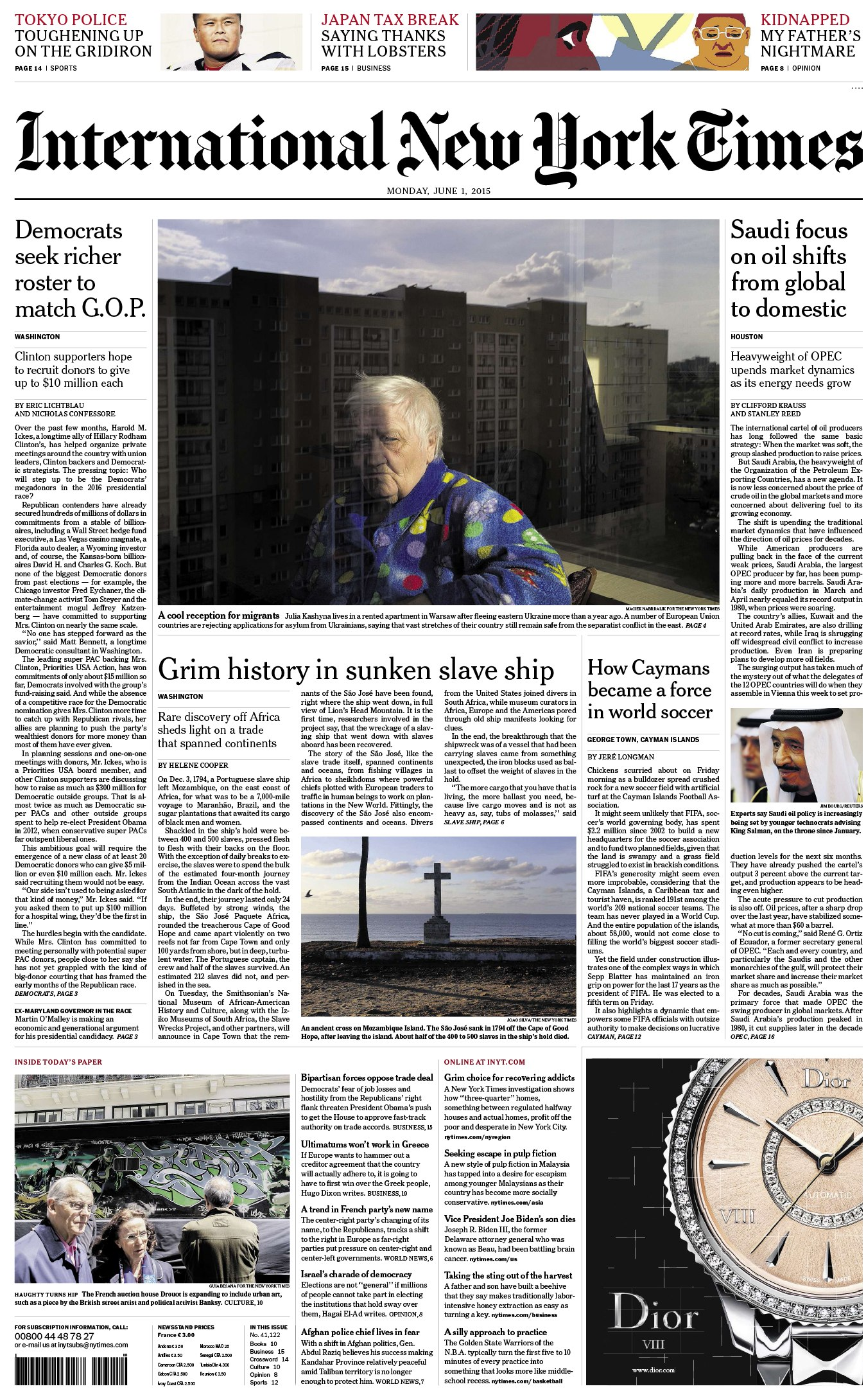 International New York Times - Monday, 1 June 2015 free download