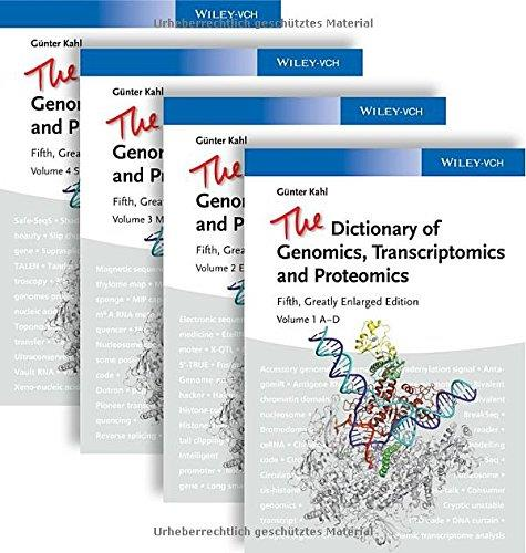 The Dictionary of Genomics, Transcriptomics and Proteomics (5th edition) free download