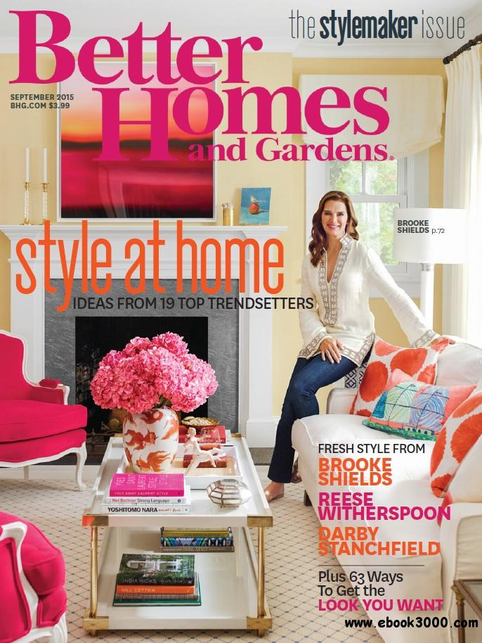 Better Homes And Gardens Usa September 2015 Free