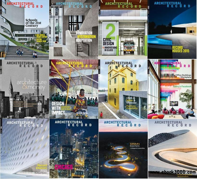 Architectural Record 2015 Full Year Issues Collection