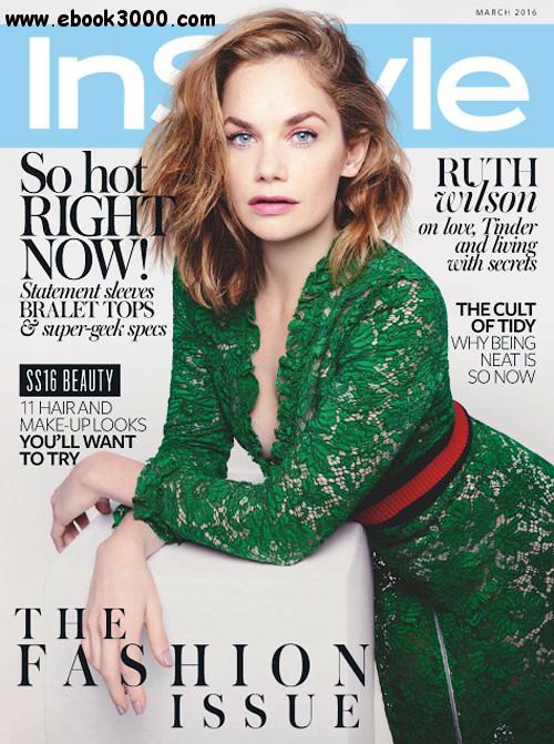 InStyle UK - March 2016 free download