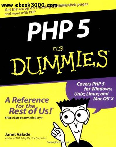 PHP 5 For Dummies free download