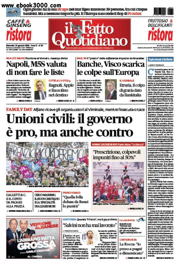 Il Fatto Quotidiano - 31.01.2016 free download