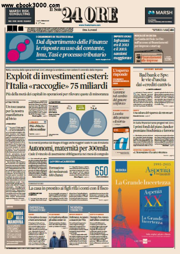 Il Sole 24 Ore - 01.02.2016 free download