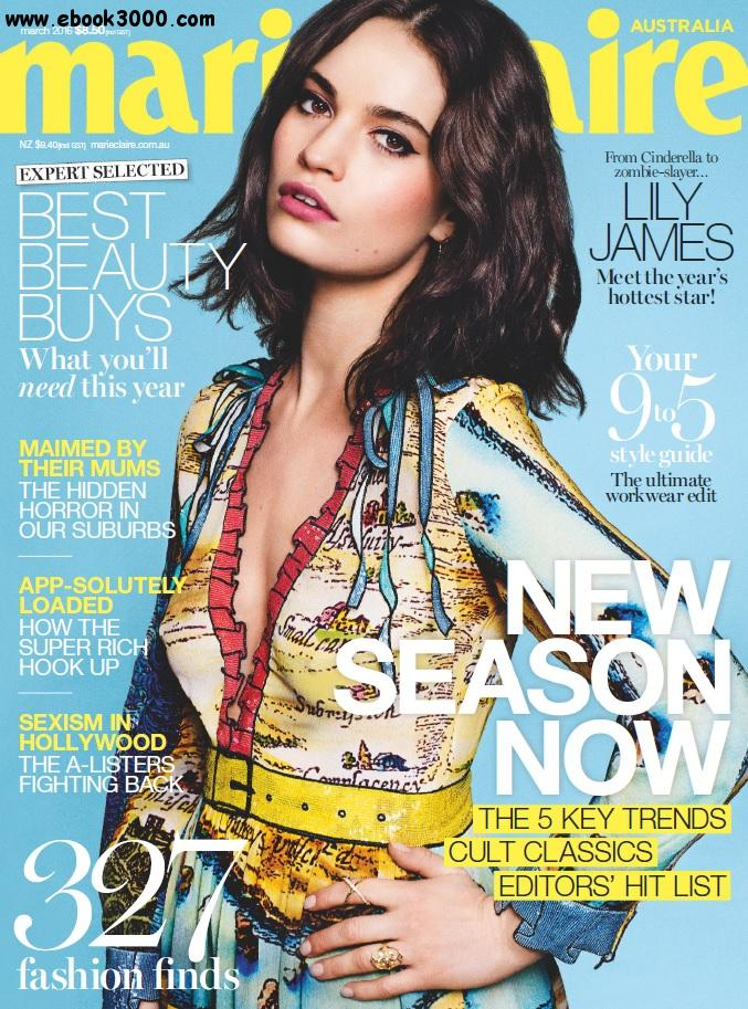Marie Claire Australia - March 2016 free download