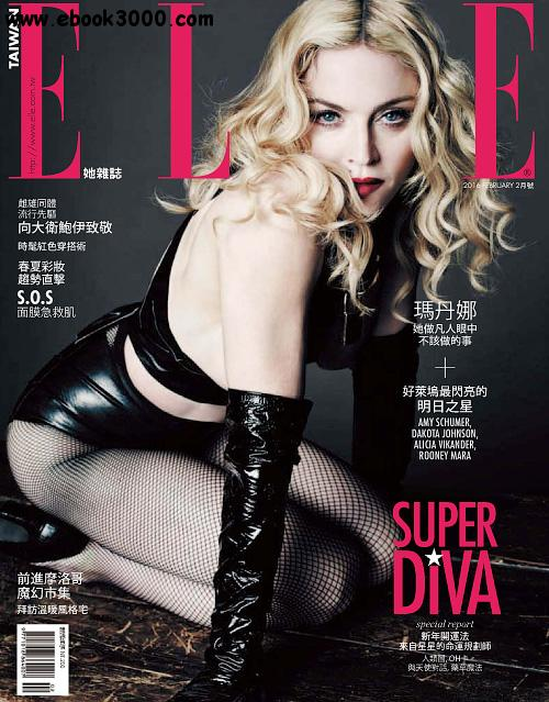 Elle Taiwan - February 2016 free download