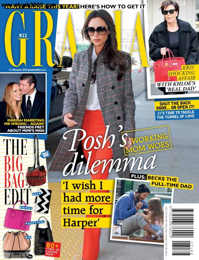 Grazia South Africa - 17 February 2016 free download