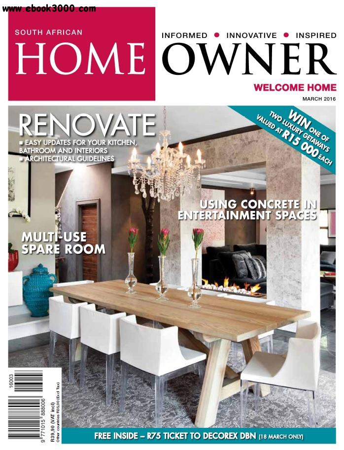 South African Home Owner - March 2016 free download