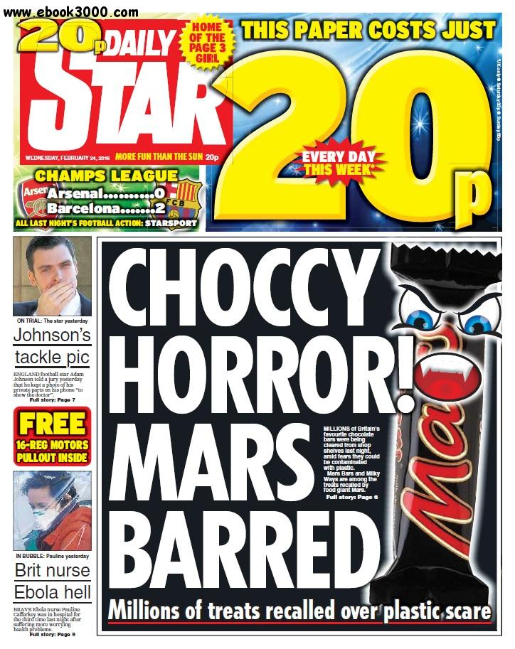 Daily Star - 24 February 2016 free download