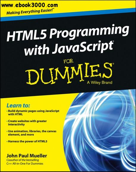 HTML5 Programming with javascript For Dummies free download