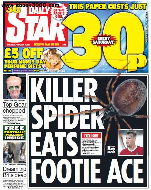 Daily Star - 27 February 2016 free download